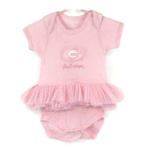 Pink UGA Onesie With Soft Tulle Tutu Size 0-3 Mo